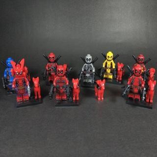 New Deadpool With Dog Minifigure Building Toy Custom Lego