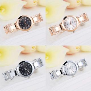 [GIN FOR FREE SHIPPING] Fashion Women Stainless Steel Luxury Bracelet Analog Quartz Wrist Watch