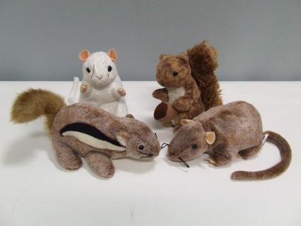 FREE  Lot of 4 TY Beanie Babies Rodents Rat Chipmunk Stuffed Animal Plush d8bdab97a50b