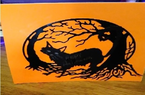 "#2-"" Happy Halloween "" Design Blank Card with Envelope"