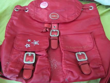 Free: American Girl & Bath and Body works girls' red backpack- so ...