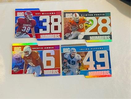 x4- 2002 Die Cut NFL Star Rookies !