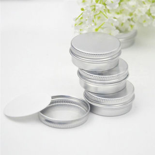 4Pcs Aluminium Glossy Screw Thread Home Garden Containers Storage Boxes