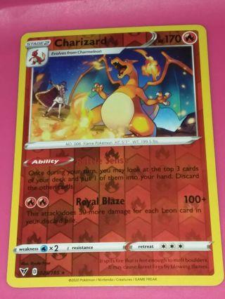 Charizard Rev Holo Vivid Voltage Pokemon Card mint
