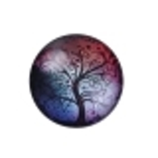 One Domed Flat Back Tree Cabochon - 25mm