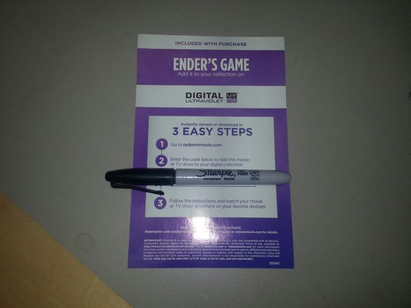 Free: Ender's Game Ultraviolet Code Flixster Movie - Other DVDs
