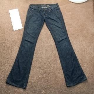 FRANKIE b. Jeans designer blue jean pants boot cut Frankie B.