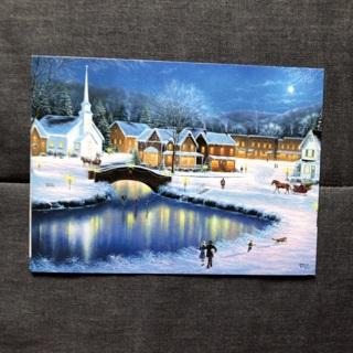 Skating Christmas Card