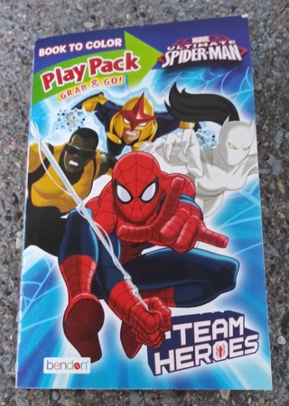 SPIDERMAN SMALL COLORING BOOK AND ACTIVITY PAGES WITH STICKERS USE YOUR OWN CRAYONS
