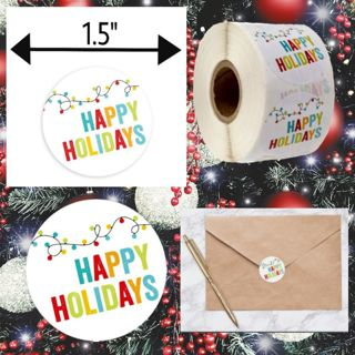 ⋆20⋆ HAPPY HOLIDAYS Labels/STICKERS ~ GIN for ⋆40⋆