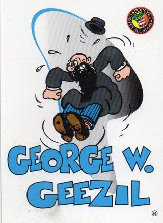 1994 Popeye Comics Collectible Trade card: George W Geezil