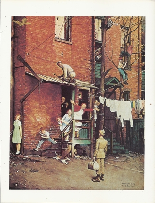 """vintage Norman Rockwell: The Homecoming - 10"""" x 13"""" Print"""