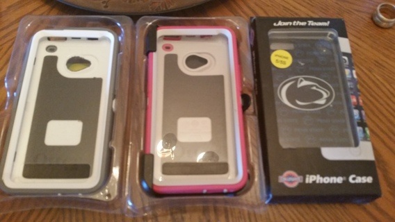 Two HTC Otterbox Cases and IPhone 5/5S case