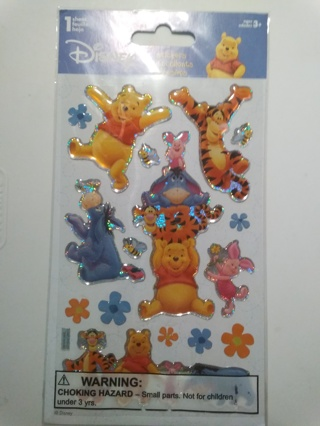 Disney's Winnie the Pooh & Friends Too Puffy Stickers Great for Scrapbooking & Cardmaking