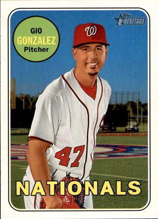 Free 2018 Topps Heritage Baseball 33 Gio Gonzalez Trading