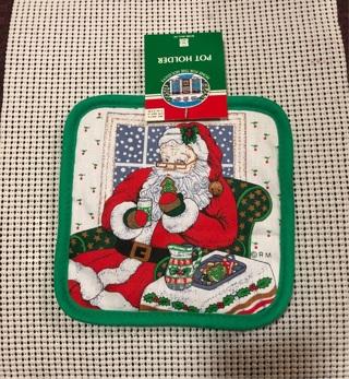 Santa Pot Holder NWT
