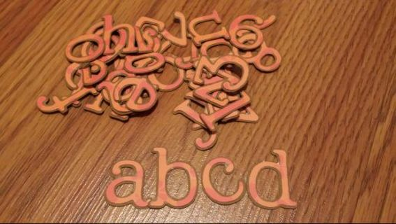 """1-1/4"""" scrapbooking fall shadow letters"""