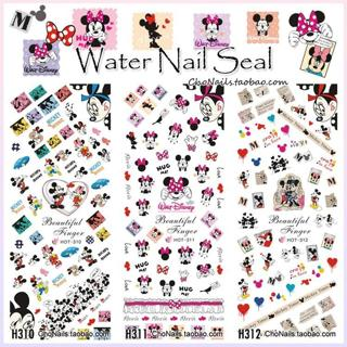 HOT310-312 3 PACKS / LOT CUTE NICE CARTOON MOUSE MINNIE NAIL ART TATTOOS STICKERS WATER DECAL NAIL