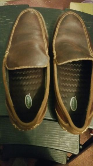 Gently Used Pair of Brown Men's Dr. Scholl's comfort loafers with Comfort Insoles size 10M