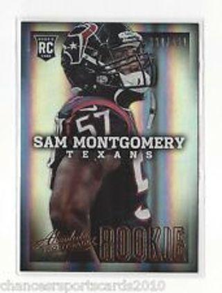 Sam Montgomery - 2013 Absolute Football ROOKIE #182 - Numbered 333/499
