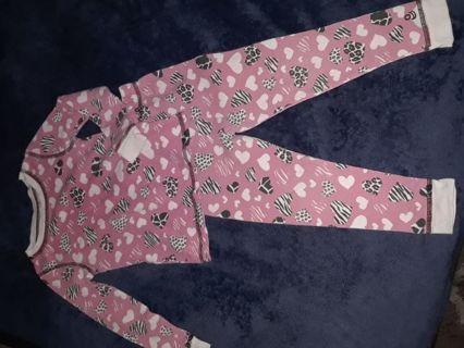 Girls Thermal Pajamas size 4T