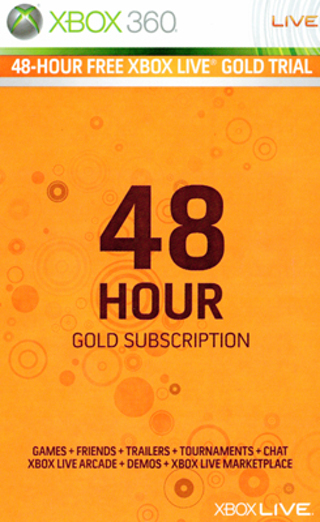 Xbox Live Gold 48 Hours Trial Code *with low GIN*