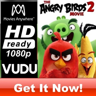 THE ANGRY BIRDS 2 MOVIE HD MOVIES ANYWHERE OR VUDU CODE ONLY