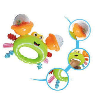 Cute Baby Rattles Crab Shape Hand Bell Kids Musical Educational Instrument Toy