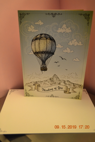 "***HOT AIR BALLOON ""THINKING OF YOU"" CARD W/MATCHING ENVELOPE***FREE SHIPPING"