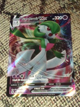 Ultra Rare Gardevoir V Max 017/073 Full Art SWSH4 Champions Path Pokemon Card Unplayed NM