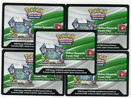 And Pokemon TCG Online PHANTOM FORCES Booster code! BONUS with GIN!!