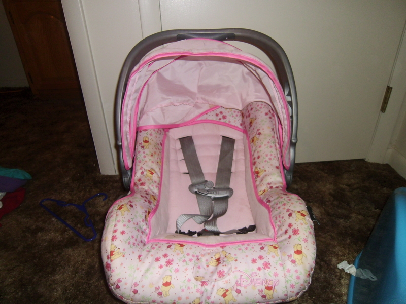 Free Pink Winnie The Pooh Infant Carseat Carrier