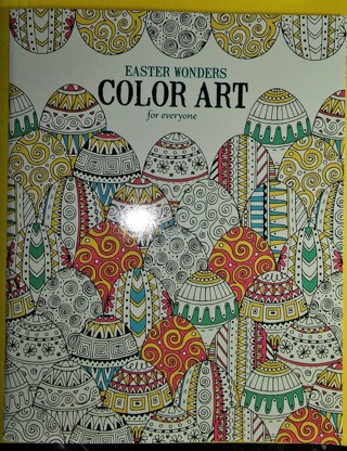 FREE NEW FULL SIZE EASTER WONDERS COLOR ART ADULT COLORING BOOK