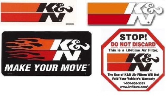 HIGE LOT of K&N Performance Filter Stickers / Decals IMPERFECT