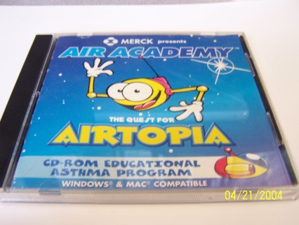 Air Academy The Quest for Airtopia cd rom educational asthma program