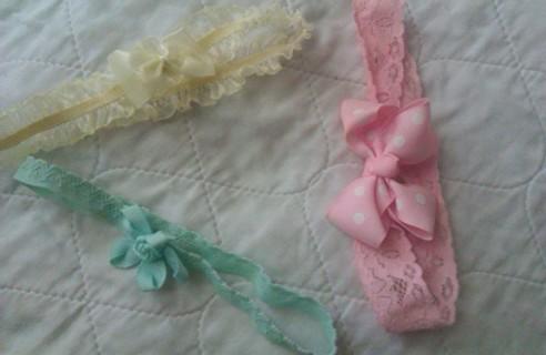 3 adorable baby girl  headbands