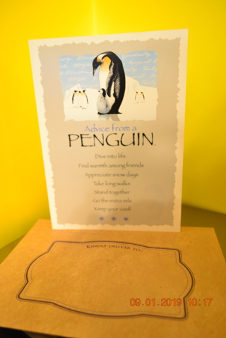 """****ADVICE FROM NATURE """"PENGUIN"""" BLANK CARD W/ENVELOPE***FREE SHIPPING"""