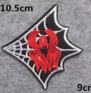 """SPIDER WEB Iron On Patch """"USA SELLER"""" EMBROIDERED ADHESIVE BADGE"""