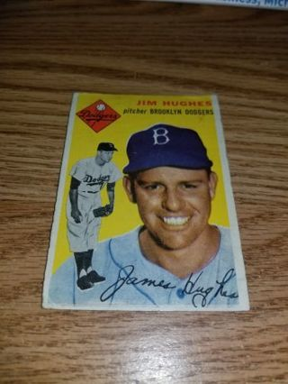 1954 Topps Baseball Jim Hughes #169,Brooklyn Dodgers VG condition,Free Shipping!
