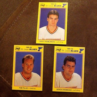 Lot of 3 St Louis Blues Hockey Cards