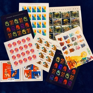 FULL SHEET OF FOREVER STAMPS ♥️ BID 4-1 OR GIN 4-2 SHEETS