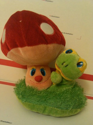 Free: Super Cute Mushroom Plush Toy Frog & The Big Fat Mushroom on ...