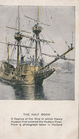 Vintage Used Postcard: 1909 The Half Moon