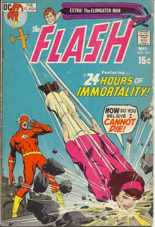 (CB-50) 1971 DC Comic Book: The FLash #206 { .15c , Elongated Man begins }