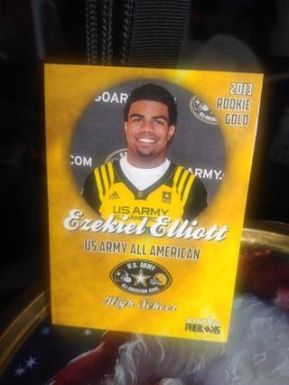 2013 Ezekiel Elliott Limited Edition Gold High School Rookie