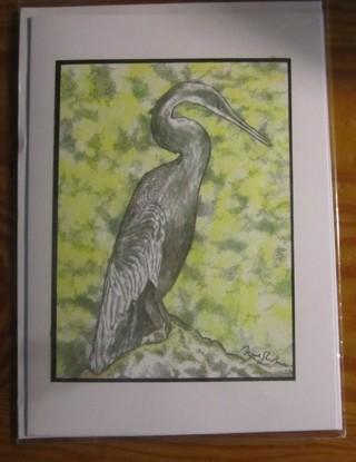 """5 x 7"""" ART CARD    snake bird"""