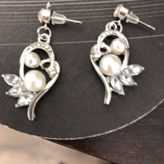 Mother's Day Special. Classy Pearl Gam Dangling Earrings .