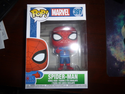 new Funko Pop Spider-Man Ugly Christmas Sweater