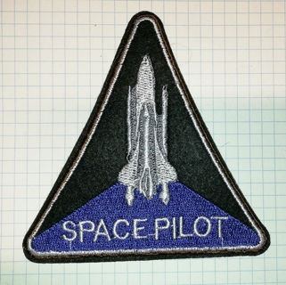 Embroidered Iron On Patch SPACE PILOT