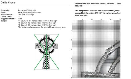 free celtic cross cross stitch pattern needlepoint listia com